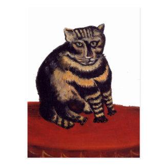 Tabby Cat by Henri Rousseau Postcard