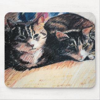 """Tabby Cat """"Catpad"""" Mousepad"""