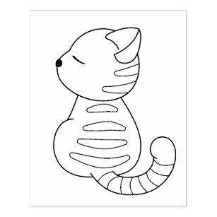 Tabby Cat Rubber Stamps Self Inking Stamps Zazzle Ca