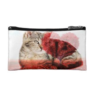 Tabby cat cosmetic bag