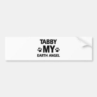 TABBY CAT DESIGN BUMPER STICKER