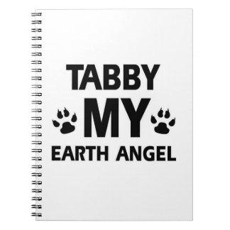 TABBY CAT DESIGN SPIRAL NOTE BOOK