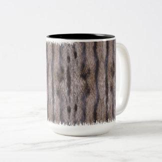 Tabby Cat Fur Two-Tone Coffee Mug