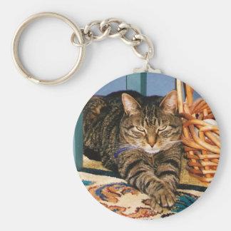 Tabby Cat key Chain