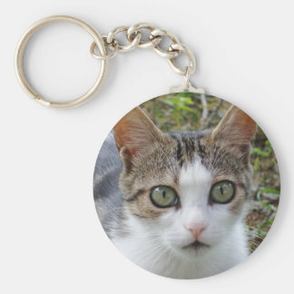 Tabby Cat Key Chain