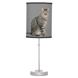 Tabby Cat Kids Table Lamp