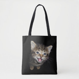 Tabby Cat Kitten Tote Bag