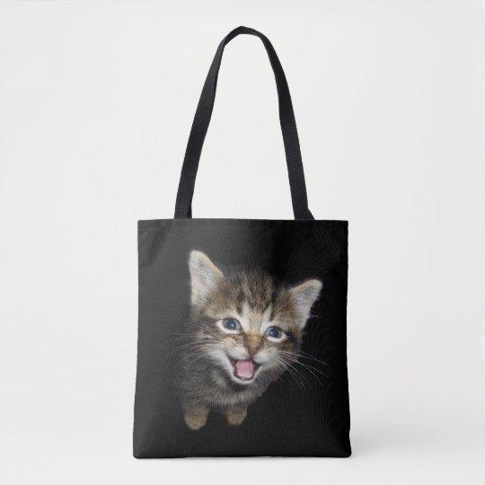 Tabby Cat Kitten Tote Bag