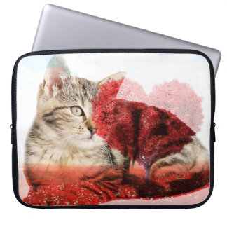Tabby cat laptop case