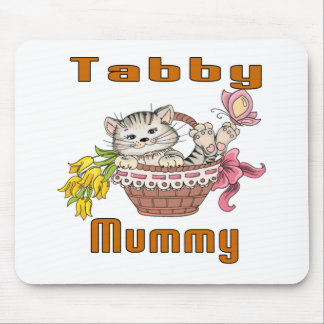 Tabby Cat Mom Mouse Pad