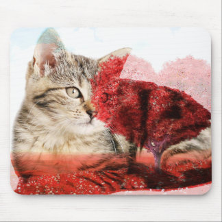 tabby cat mousemat mouse pad