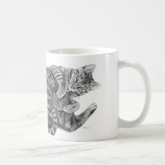 """Tabby Cat Mug """"Have A Ball"""""""