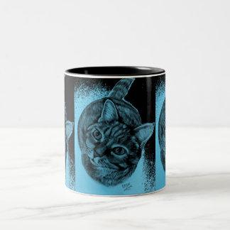 Tabby Cat original artwork on Mug by Carol Zeock`