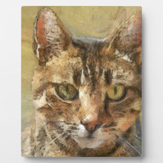 Tabby Cat Plaque