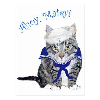 Tabby Cat Sailor Postcard