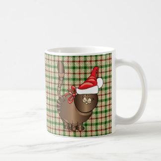 tabby cat santa coffee mug