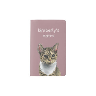Tabby Cat With Big Eyes Pocket Moleskine Notebook