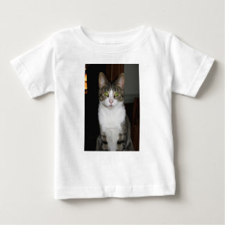 Tabby cat with big green eyes baby T-Shirt