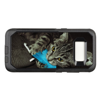 Tabby Cat with Feather by Shirley Taylor OtterBox Commuter Samsung Galaxy S8 Case