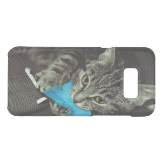 Tabby Cat with Feather by Shirley Taylor Uncommon Samsung Galaxy S8 Plus Case