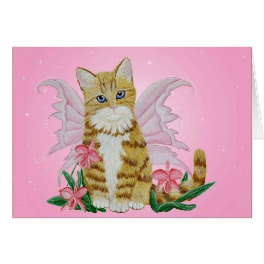 Tabby Fairy Kitten Card