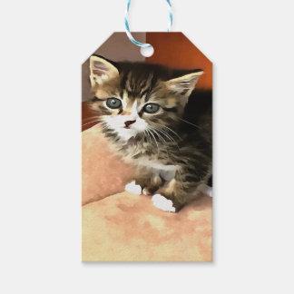 Tabby Kitten Named Miss Pip Squeak Gift Tags