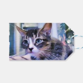 Tabby Kitten Watercolor Pack Of Gift Tags
