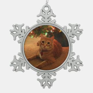 Tabby Snowflake Ornament