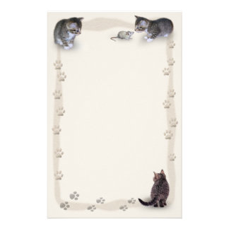 Tabby Tracks Stationery