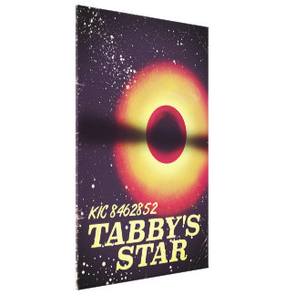 Tabbys star space poster canvas print