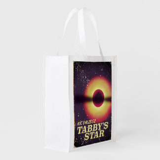 Tabbys star space poster reusable grocery bag