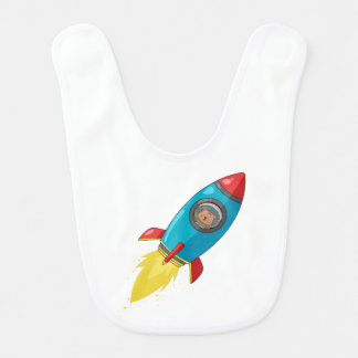Tabitha Fink Rocket Baby Bib
