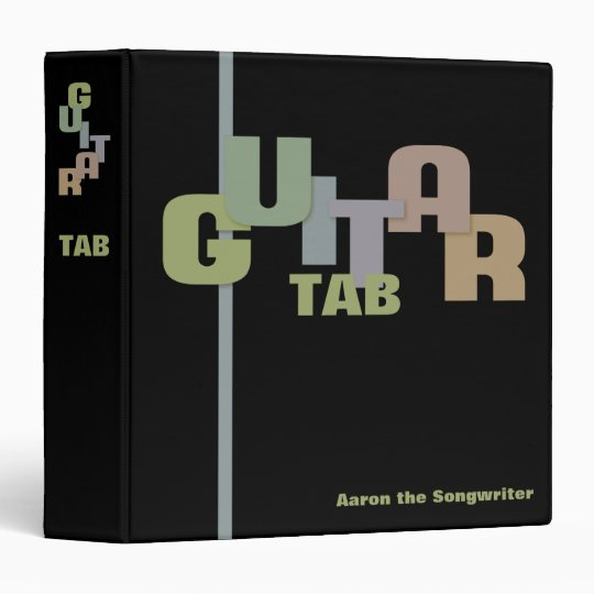Tablature Collection with Guitar Typography Binder