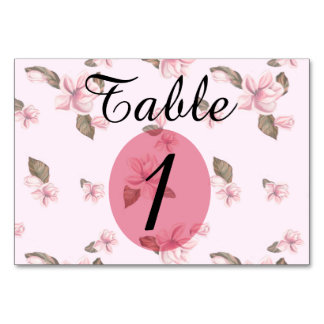 "TABLE CARD 2ROSES  3.5"" x 5"" Ultra-Thick Paper H"