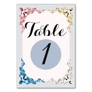 "TABLE CARD 3 VINTAGE  3.5"" x 5"""