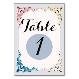 """TABLE CARD 3 VINTAGE  3.5"""" x 5"""" Ultra-Thick Paper"""