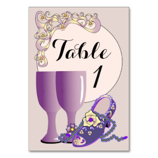 "TABLE CARD 4 VINTAGE  3.5"" x 5"""