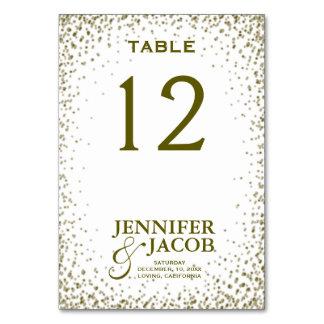 Table Card   Glitter Confetti
