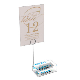 Table Card Holder Liberal Tears Salt Mines