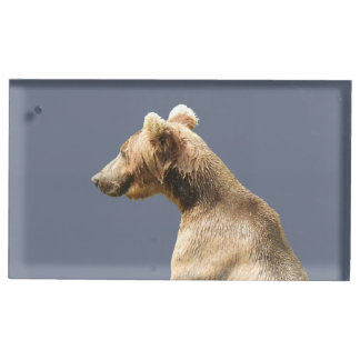 Table Card Holder w/ grizzly bear