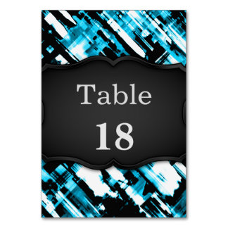 Table Card Hot Blue Black abstract digitalart G253