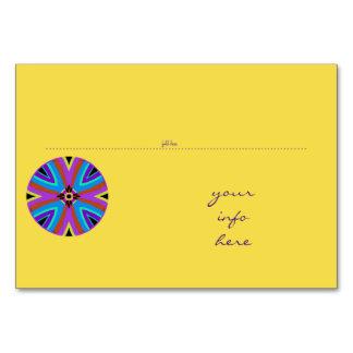 Table card. Place mark. Mandala. Card