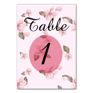 "TABLE CARD ROSES  3.5"" x 5"""