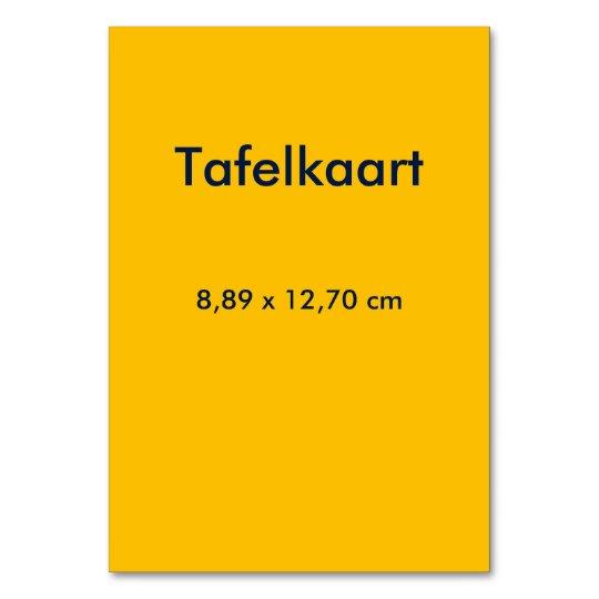 Table Card uni Yellow