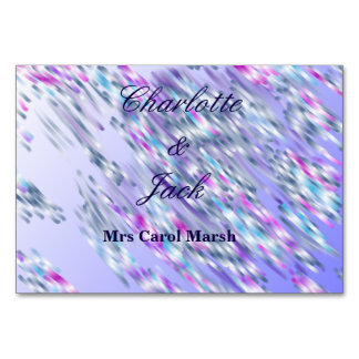 Table card wedding of... with guests name space