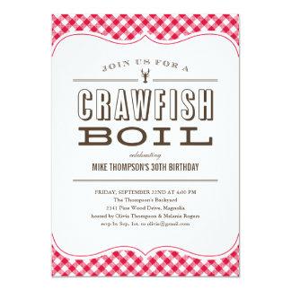 Table Cloth Crawfish Boil Invitations