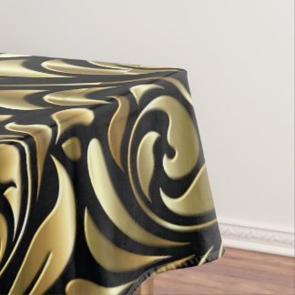 Table Cloth - Drama in Black and Gold