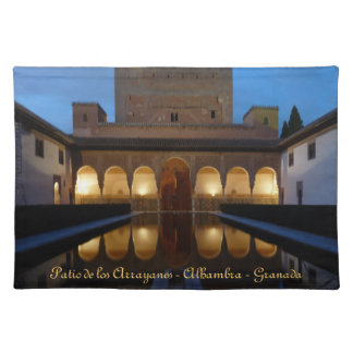 Table cloth Patio of the Arrayanes - Alhambra - Gr Placemat