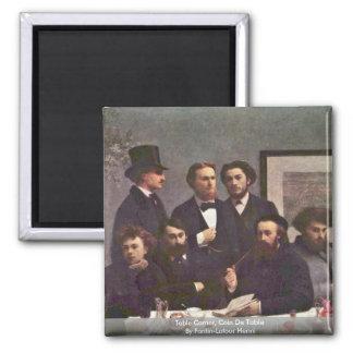 Table Corner, Coin De Table By Fantin-Latour Henri Square Magnet