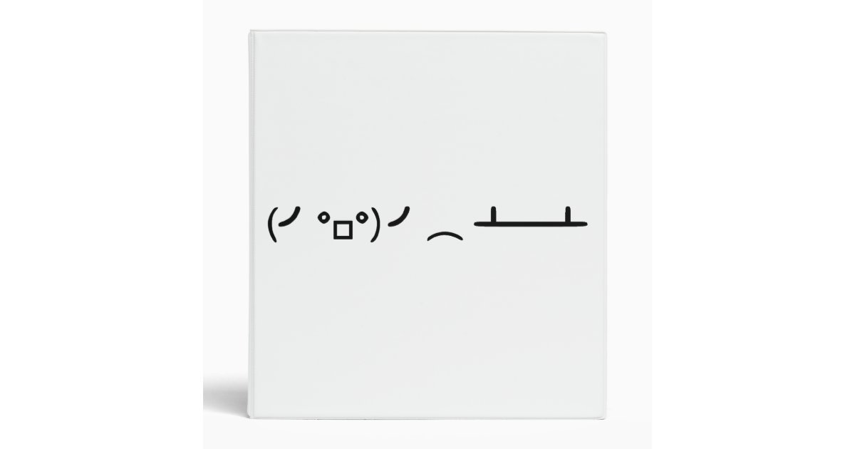 One Line Ascii Art Eyes : Table flip flipping ascii emoticon ring binder zazzle
